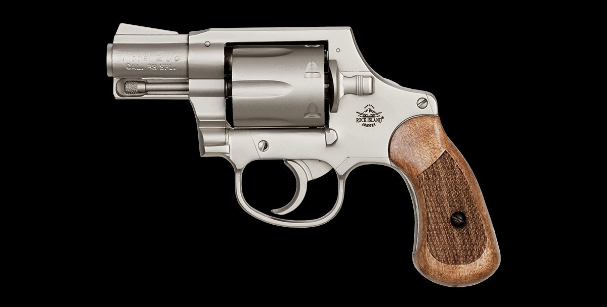 Revolver M206 Matte Nickel 38spl left profile